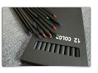 Wholesale Led Pencils Free Shipping - 12 pieces   box children 12 color black wood color pencil sketch suit custom wholesale wood color lead wholesale free shipping