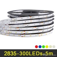 Wholesale Flux Rgb - 5M 300 leds RGB LED Strip light 2835 SMD Decoration lamp High Luminous flux More than 3528 Lower Price than 5050 5630 SMD