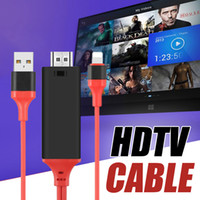 Wholesale For iPhone to HDTV Cable M Ft P HD Plug And Play HDMI Adapter For TV iPad convert HD Video in Retail Box