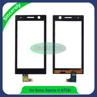 Wholesale Touch Screen Xperia U - High Quality Touch Screen For Sony Xperia U ST25 ST25i VL T25i LT25 Digitizer Sensor Panel Front Glass Lens Black