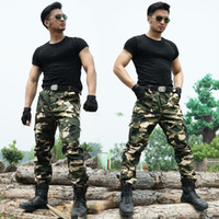 Wholesale Sport Cargo Pants For Men - Tactical Cargo Outdoor Pants Men Combat Army Training Tatico Pants Hiking Hunting Outdoors Sport Camouflage Trousers For Men