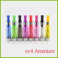 Wholesale Cigarette Plastic - CE4 1.6ml atomizer cartomizer Electronic Cigarette 510 ego-CE4 ego t,e cigarette for E cig all ego series CE5 CE6 Clearomizer