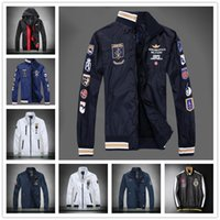 Wholesale Cross Color Clothing - 24 Models Men military jacket Plus size army soldier cotton Air force one male clothing Autumn Mens aeronautica militare jackets