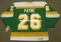 commercio all'ingrosso personalizzato Throwback Mens STEVE PAYNE Minnesota North Stars 1981 CCM Vintage Cheap Retro Hockey Jersey