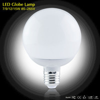 Wholesale E27 Led Bulb 9w Lumen - 2017 New 1Pcs High Lumen 3W 5W 7W 9W 12W 15W E27 220V 85-265V LED Corn lamp Chandelier 5730SMD Bubble Ball Bulb Spotlight Indoor lighting
