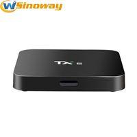 Wholesale Quad Core 5ghz - TX5 pro 2GB 8GB Amlogic S905X Quad Core stream Andorid TV BOX 2.4GHz 5GHZ WiFi BT4.0 Google Play Store Media Player TX5 Smart TV Boxes