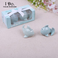 Wholesale Kissing Fish Shaker - Wholesale- Free Shipping Kissing Fish Salt & Pepper Shaker Wedding Favors And Gifts For Guests Souvenirs Decoration Event & Party Supplies