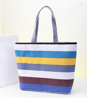 Estilo coreano Stripes coloridos Bolsas de ombro Outono Envelope Inverno Ladies Designer Canvas Canvas Container Women Handbags