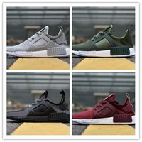 Wholesale Youth Golf - 2017 New original cheap NMD Runner Primeknit XR1 Fall Olive Green All Black Fashion Sneakers Men Women Youth Sports NMD XR1 Running Shoes