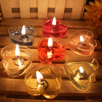 Wholesale Heart Shaped Decorations Home - Love Heart-Shaped Scented Candles Sweet Floating Candle For Home Decorations Wedding Birthday Party Celebrations Romantic Wax Candle Gift