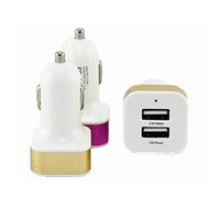 Dual USB Car Charger 5V 3.1A Auto Mini Adaptador Univsal para iPhone iPad Samsung Ipad High Quality