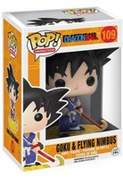 Wholesale Dragons Free Shipping - New hot sale FUNKO pop DRAGON BALL childhood son Goku and flying nimbus Boxed PVC 10CM gift for children free Shipping