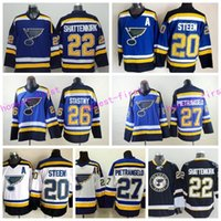 Wholesale Paul Stastny - St. Louis Blues Ice Hockey Jerseys 22 Kevin Shattenkirk 27 Alex Pietrangelo Jersey 26 Paul Stastny 20 Alexander Steen Home Blue Road White
