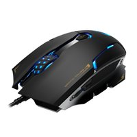 Wholesale Usb Wired Mouse Laser - USB wire optical mouse 3500 DPI LED Laser Gaming Mice 2.4ghz good game sports led mouse cool lol cf play mouse 6 buttons wholesale