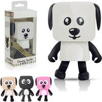 Wholesale Dancing Dog Bluetooth Speakers Portable Mini Electronic Robot Stereo Speakers Electronic Walking Toys With Music Wireless Speaker Toy