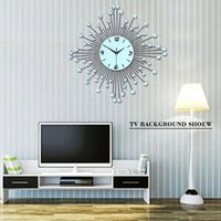 Wholesale Luxury Home Decor Wholesale - Home Decor quartz wall clock Bedroom Decorative wall clocks European fashion personality clock Modern Luxury Set Design Wall-Clock Fashion