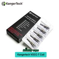 Wholesale kanger mini protank kit - Original Kanger Upgraded Dual Coils VOCC VOCC-T Coil for Kangertech Aerotank Mini protank 3 EVOD 2 glass Topevod kit