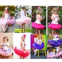 robe d'enfant tutu achat en gros de-Nouveau Mode Tutu Robe à volants bébé Tutu jupe fille jupe robe de bal enfants tutu enfants jupe de ballet
