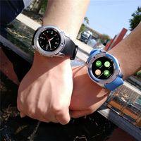 smartwatch hd toptan satış-8 Renkler V8 Akıllı Seyretmek Telefon Bluetooth 3.0 IPS HD Tam daire Ekran MTK6261D Smartwatch Android Sistemi Smartphone Için Kutuda