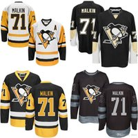 Wholesale Uniform Retail - 2016 New Retail Factory Price Cheap 2015 Old Time Pittsburgh Penguins 71 Evgeni Malkin Hockey uniforms 100% Embroidered swearsport jerseys