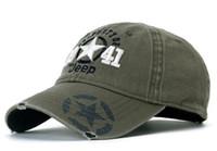 Wholesale Cap Times - Jeep Peaked cap Leisure time Sun hat Baseball cap Caps for men outdoors Sports sun hat