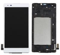 ekran lg toptan satış-LG Haraç HD K6B F740 LS676 K200 X stil L53BL L56VL Çerçeve Ile Tam Meclisi Ekran Değiştirme Ile Dokunmatik Ekran Digitizer LCD Ekran Değiştirme