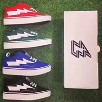 Wholesale Light Up Skateboards - (with box) 2017 Revenge X Storm old skool Classic black white red blue green light men and women Casual Shoes sneakers skateboard shoes
