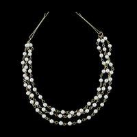 Wholesale Creates Clips - Fashion Accessories Hairwear Punk Hair Hand Chain Cuff Pin Clip Tassels Chains Head Band Created Pearl Wedding Hair Jewelry
