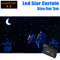 Wholesale Curtain Backdrops For Weddings - High Quality 5M*5M Led Star Curtain Blue+White LED Star Backdrops for DJ Stage Wedding Backdrops Led Star Lighting Size customized