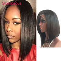 Wholesale Indian Hair Stock Price - Glamorous Brazilian Human Hair Lace Front Wig Bob Full Lace Wig Wholesale Cheap Price Short Peruvian Indian Human Hair Wigs 8-14In In Stock