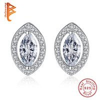 Wholesale Multiple Sets Earrings - BELAWANG High Quality Crystal Stud Earrings 925 Sterling Silver Multiple Colour Earrings Jewelry Sets With White Cubic Zirconia for Women
