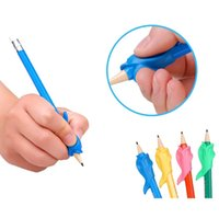 Wholesale Dolphins Massage - Student Writing Posture Corrective Braces to Hold a Pen device, Dolphin fish Gel Pen Pencil Pencil Hand massage Best