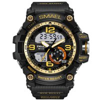 SMAEL Digital Watch Men Sport Super Cool Hommes Quartz Montres de sport Marque Marques de luxe LED Militaire Waterproof Wristwatch Male Drop Shippi