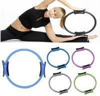 Wholesale Wholesale Pilates Ring - Yoga Pilates Ring Pilates Anillo Magic Circle Wrap Slimming Body Building 2016 Brand Fitness Yoga Circles TO1441
