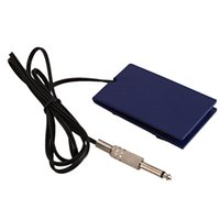 Wholesale Mini Tattoo Machine Power Supply - Wholesale-Professional Digital Mini Tattoo Machine Kit Power Supply Foot Pedal Control Switch Blue Color Body Art Accessories Brazil