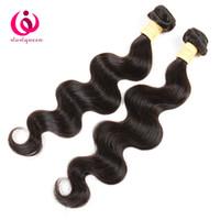 peru saç ürünleri vücut dalgası toptan satış-Hint İnsan Vücut Dalga Saç Örgü Demetleri 8A Sınıf Wow Kraliçe Ürünleri 2 Paketler Ucuz Fiyat Yumuşak Ve Kalın Perulu Remy Saç Uzantıları