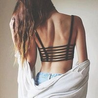 Backless Bandage Tops 1PC Sexy Beach Tank 2017 Fashion Crop Tops Women Strap Vest Cut Out Shirt Summer Tops дамские блузки