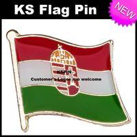 Wholesale Hungary Free - Hungary Flag Badge Flag Pin 10pcs a lot Free shipping 0002