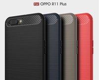 бесплатный телефон oppo оптовых-Для OPPO A57 R9S R9s плюс углеродного волокна силиконовый чехол мягкий ТПУ для OPPO R11 R11 плюс Противоударный телефон задняя крышка протекторы DHL Бесплатная доставка