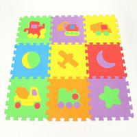 Wholesale Play Cars Games - Wholesale- High Quality Split Joint 10PCS EVA Car Plane Baby Play Mats Foam Puzzle Kids Jigsaw Game Non-slip Mat 30 * 30*1 CM