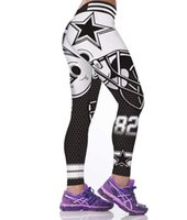 Wholesale Big Star Capris - Fashion skinny leggings quality 2017 womens five-pointed star sexy female nice tights girls sexy big ass wears hip hop pants trousers