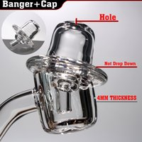 Wholesale nail hold resale online - new style quartz banger carb cap UFO banger nail quartz hold for quartz banger nail used MM bangers