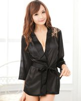 Wholesale Trading Lingerie - Wholesale- Pajamas Sexy lace nightdress Nightgown size women's foreign trade lingerie lace Robe Adult sexy pajamas Sexy lingerie 100510
