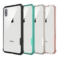 Caixa de telefone para iphone 8 Clear Hybrid Soft TPU Bumper rígido capa de capa para PC para iphone x 8 8plus