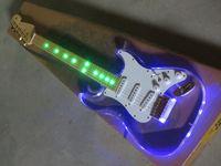 Wholesale 7v Guitars - Free shipping new 2017 Transparent acrylic light 7V electric guitar fretboard light models guitar