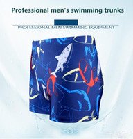 Wholesale Hot Male Trunks - Swimmer men flat angle comfortable fashion color swimming trousers tide male swimsuit large size plus fertilizer hot spring male swimsuit