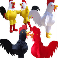 Wholesale Chicken Mascot Costumes - 2017 Hot sale chicken Mascot Costume for Adult Fancy Dress Party Halloween cock Costume free shipping