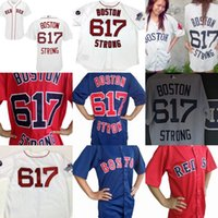 Wholesale Mens Strong - 2017 MLB Boston red sox Mens Ladies Youth 617 Boston Strong Throwback FLEX COOL Baseball Jerseys size XS-6XL Grey Red White Navy blue