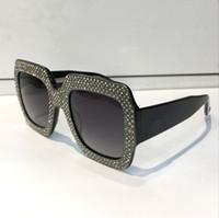 construir lentes venda por atacado-Luxo 0048 Óculos De Sol Grande Quadro Elegante Designer Especial com Diamante Quadro Lente Circular Embutida Top Quality Vem Com o Caso