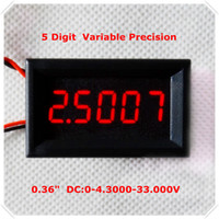 "Wholesale Three Digits Voltmeter - Wholesale-Home automation modules LED display Color DC 0-4.3000-33.000V 0.36"" Digital Voltmeter three Wires 5 Digit voltage Panel meter"
